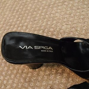 Via Spiga Shoes - (SOLD) Vintage Via Spiga Suede Heeled Sandals